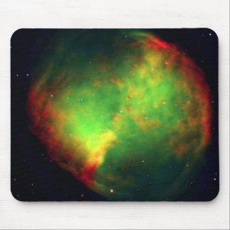 Dumbbell Nebula Space Green Mousepad