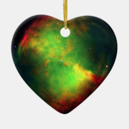 Dumbbell Nebula Space Green Christmas Tree Ornament