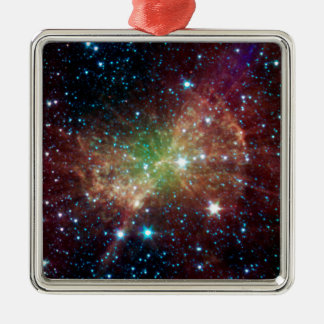 Dumbbell Nebula Square Metal Christmas Ornament
