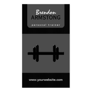 Dumbbell Personal Trainer Business Cards Business Cards