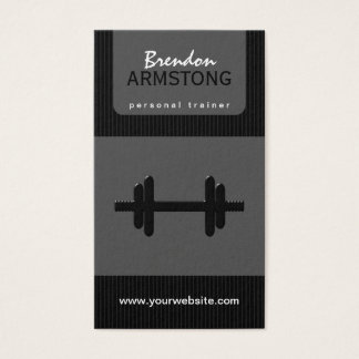 Dumbbell Personal Trainer Business Cards
