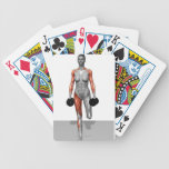 Dumbbell Single Leg Deadlift 4 Bicycle Playing Cards