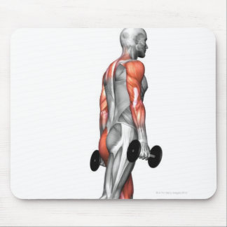 Dumbbell Step Up 3 Mouse Pads