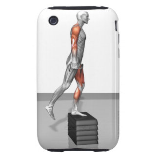 Dumbbell Step Up 4 Tough iPhone 3 Covers