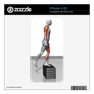 Dumbbell Step Up 4 Decals For The iPhone 4S