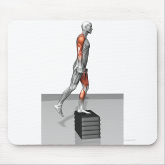 Dumbbell Step Up 4 Mouse Pad