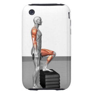Dumbbell Step Up Tough iPhone 3 Cover