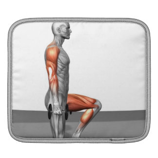Dumbbell Step Up iPad Sleeves