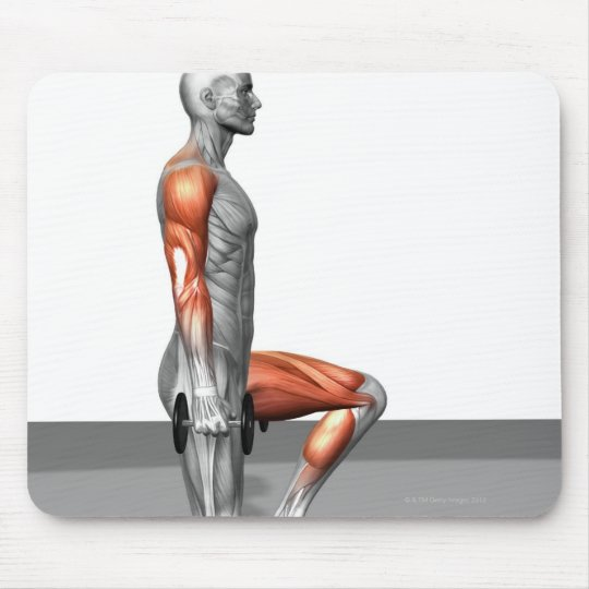 Dumbbell Step Up Mouse Pad