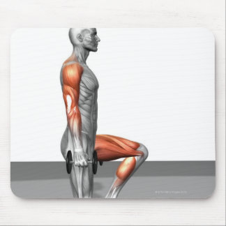 Dumbbell Step Up Mousepad