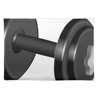 Dumbbell Weight Cloth Placemat
