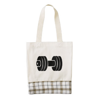 Dumbbell Zazzle HEART Tote Bag