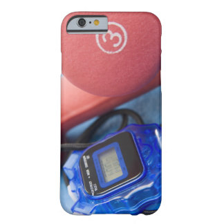 Dumbbells and stopwatch barely there iPhone 6 case