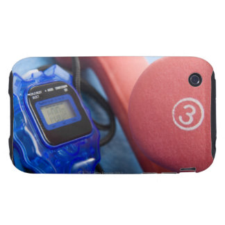 Dumbbells and stopwatch iPhone 3 tough case