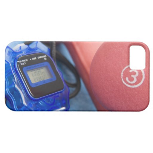 Dumbbells and stopwatch iPhone 5 cover