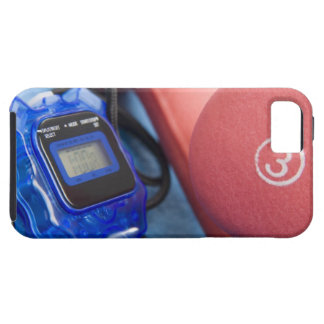 Dumbbells and stopwatch iPhone SE/5/5s case