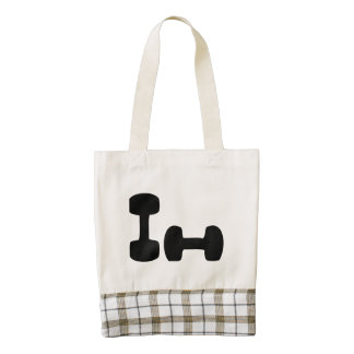 Dumbbells Zazzle HEART Tote Bag
