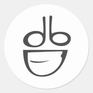 dumbDesign Logo Classic Round Sticker
