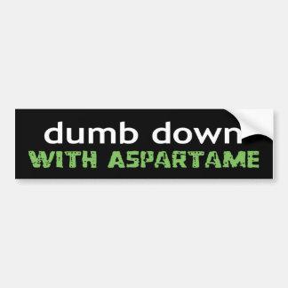 dumbdown etiqueta de parachoque