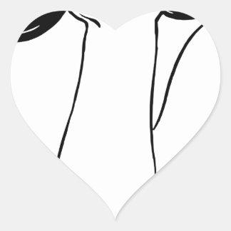 Dumbell Lifting Heart Sticker