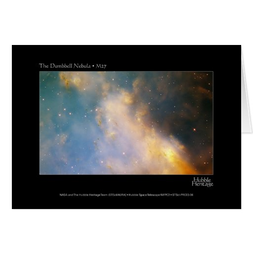 Dumbell Nebula M27 Hubble Telescope Card