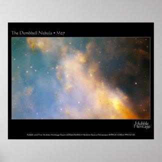 Dumbell Nebula M27 Hubble Telescope Poster