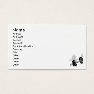 Dumbells Business Card