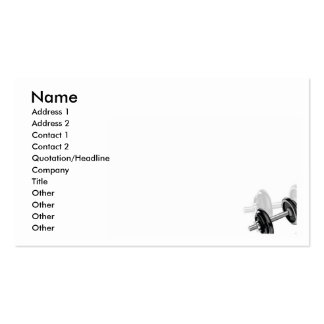 Dumbells Business Card Template