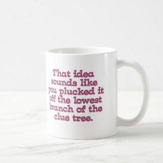 Dumbest idea Ever (Low Hanging Fruit) Coffee Mug
