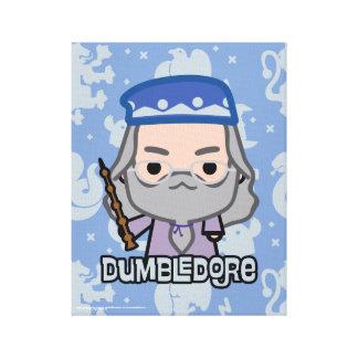 Dumbledore Cartoon Character Art Canvas Print