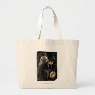 Dumbledore Script Logo Large Tote Bag