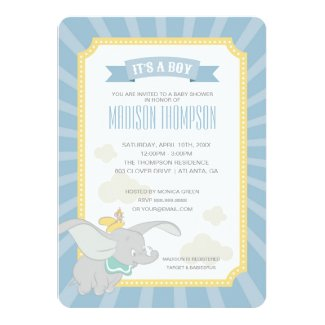 Dumbo | Boy Baby Shower Card