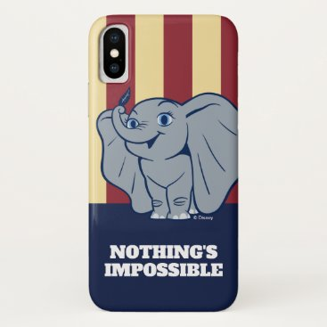 Dumbo   Cartoon Dumbo Holding Up Feather iPhone X Case