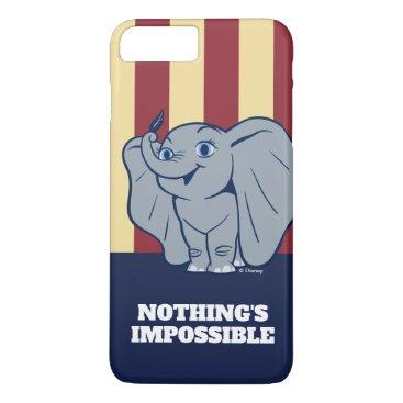 Dumbo   Cartoon Dumbo Holding Up Feather iPhone 8 Plus/7 Plus Case