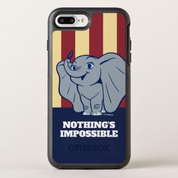 Dumbo   Cartoon Dumbo Holding Up Feather OtterBox Symmetry iPhone 8 Plus/7 Plus Case