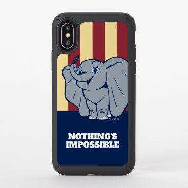 Dumbo | Cartoon Dumbo Holding Up Feather Speck iPhone XS Case