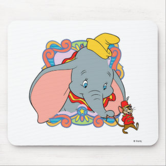 Dumbo Dumbo and Timot walking Mouse Pad