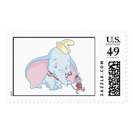 Dumbo Dumbo and Timothy Q. Mouse talking Postage