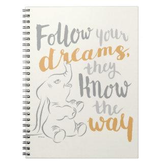Dumbo el   sigue sus sueños libreta espiral