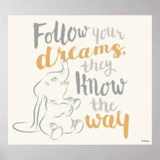 Dumbo el | sigue sus sueños póster