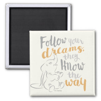 Dumbo | Follow Your Dreams 2 Inch Square Magnet
