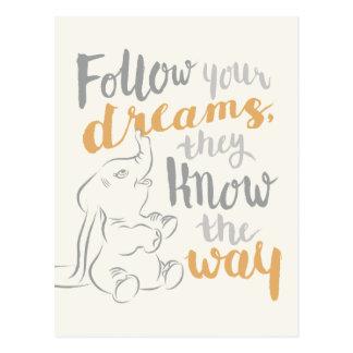 Dumbo | Follow Your Dreams Postcard