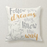 "Dumbo | Follow Your Dreams Throw Pillow<br><div class=""desc"">This image features Dumbo reaching reminding us to follow our dreams.</div>"
