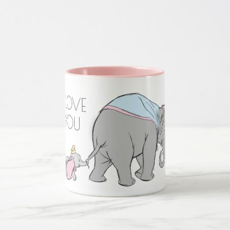 Dumbo following his Mom Closely Mug