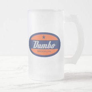 Dumbo Frosted Glass Beer Mug