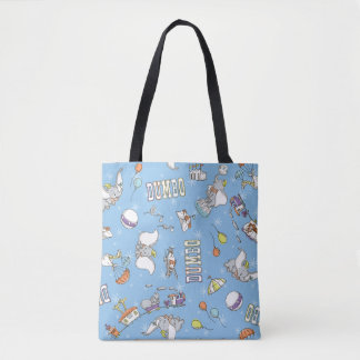 Dumbo   Fun Little Blue Pattern Tote Bag