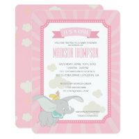 Dumbo | Girl Baby Shower Card