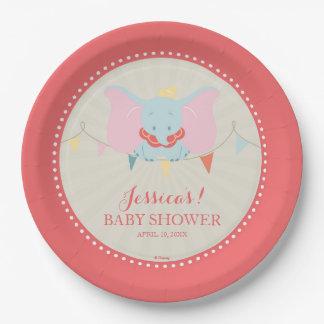 Dumbo   Girl Baby Shower Paper Plate