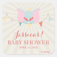 Dumbo | Girl Baby Shower Square Sticker