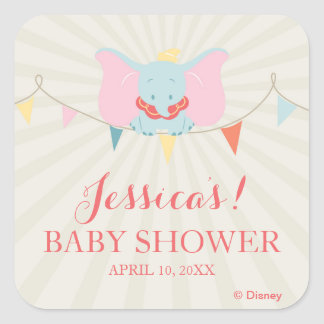 Dumbo | Girl Baby Shower Square Sticker